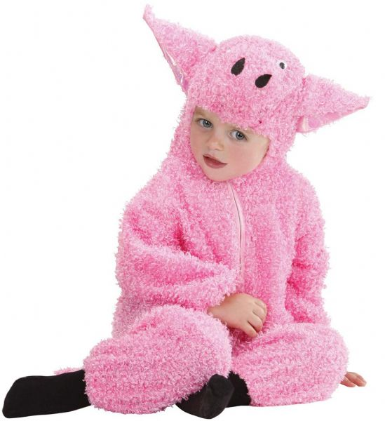 Toddler Fuzzy Pig Baby Costume Animal Fancy Dress